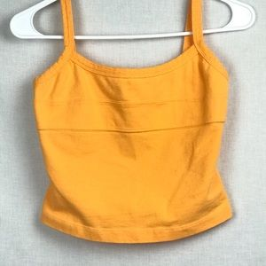 Oakley Orange Sleeveless Athletic Tank